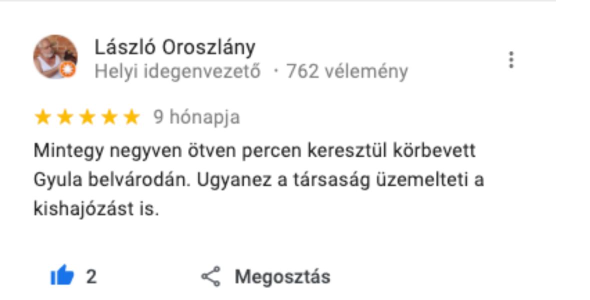 Gyulai Kisvonat Utas Vélemény 4